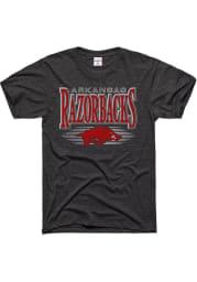Charlie Hustle Arkansas Razorbacks Charcoal Metal Mascot Short Sleeve Fashion T Shirt