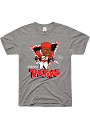Derrick Thomas Kansas City Chiefs Grey DT Short Sleeve Fashion Player T Shirt