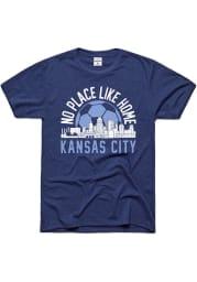 Charlie Hustle Sporting Kansas City Navy Blue No Place Like Home Short Sleeve Fashion T Shirt