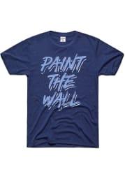 Charlie Hustle Sporting Kansas City Navy Blue Paint the Wall Short Sleeve Fashion T Shirt