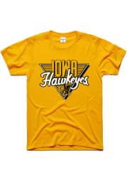 Charlie Hustle Iowa Hawkeyes Gold 90s Throwback Short Sleeve Fashion T Shirt