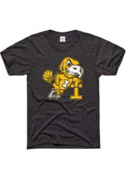 Charlie Hustle Iowa Hawkeyes Charcoal Leaning Short Sleeve Fashion T Shirt