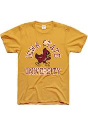 Charlie Hustle Iowa State Cyclones Gold Classic Short Sleeve Fashion T Shirt