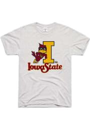 Charlie Hustle Iowa State Cyclones Grey Vintage Logo Short Sleeve Fashion T Shirt