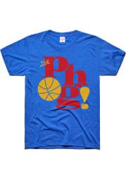 Charlie Hustle Kansas Jayhawks Blue The Phog Short Sleeve Fashion T Shirt