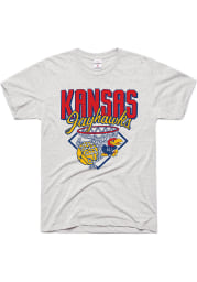 Charlie Hustle Kansas Jayhawks Grey Nothin But Net Short Sleeve Fashion T Shirt