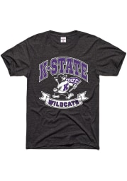 Charlie Hustle K-State Wildcats Charcoal Banner Short Sleeve Fashion T Shirt