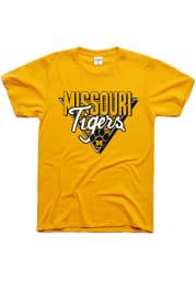 Charlie Hustle Missouri Tigers Gold 90s Throwback Short Sleeve Fashion T Shirt