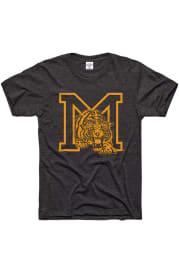 Charlie Hustle Missouri Tigers Charcoal MU Monogram Short Sleeve Fashion T Shirt