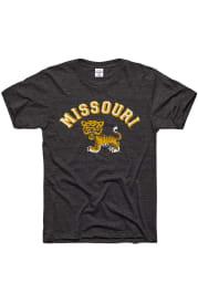 Charlie Hustle Missouri Tigers Charcoal Arch Short Sleeve Fashion T Shirt