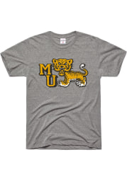 Charlie Hustle Missouri Tigers Grey Classic Short Sleeve Fashion T Shirt