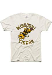 Charlie Hustle Missouri Tigers White Vintage Diving Catch Short Sleeve Fashion T Shirt
