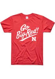Charlie Hustle Nebraska Cornhuskers Red Go Big Red Short Sleeve Fashion T Shirt