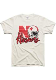 Charlie Hustle Nebraska Cornhuskers White 90s Throwback Helmet Short Sleeve Fashion T Shirt