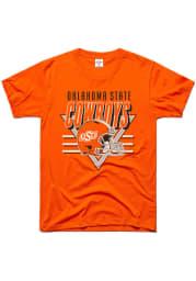 Charlie Hustle Oklahoma State Cowboys Orange Football Endzone Short Sleeve Fashion T Shirt