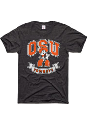 Charlie Hustle Oklahoma State Cowboys Charcoal Banners Short Sleeve Fashion T Shirt