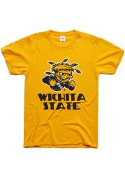 Charlie Hustle Wichita State Shockers Gold Tradition Short Sleeve Fashion T Shirt