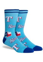Texas Rangers Panel Mens Crew Socks