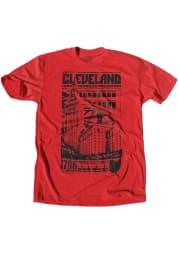 GV Art + Design Cleveland Red Bold Graphic Short Sleeve T Shirt