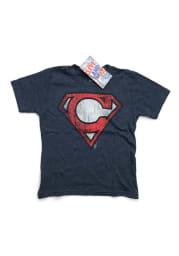 GV Art + Design Cleveland Youth Navy Superman C Short Sleeve T-Shirt