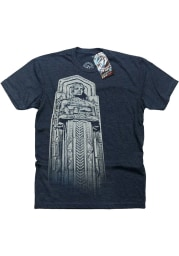 GV Art + Design Cleveland Navy Blue Guardians Short Sleeve Fashion T Shirt