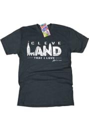 GV Art + Design Cleveland Charcoal Landmarks Short Sleeve Fashion T Shirt