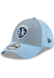 New Era Sporting Kansas City Mens Light Blue Home Jersey Hook 39THIRTY Flex Hat