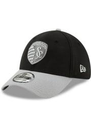 New Era Sporting Kansas City Mens Black Away Jersey Hook 39THIRTY Flex Hat