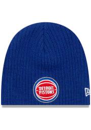 New Era Detroit Pistons Mini Fan Baby Knit Hat - Blue