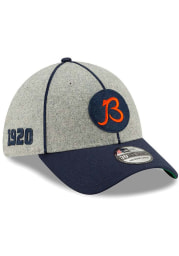 New Era Chicago Bears Grey JR 2019 Official Sideline Home 39THIRTY Youth Flex Hat