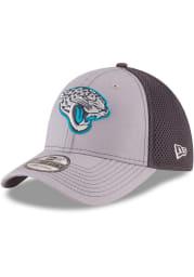 New Era Jacksonville Jaguars Mens Grey Grayed Out Neo 39THIRTY Flex Hat