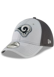 New Era Los Angeles Rams Mens Grey Grayed Out Neo 39THIRTY Flex Hat