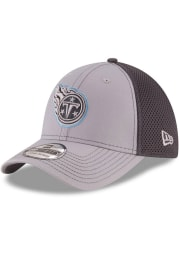 New Era Tennessee Titans Mens Grey Grayed Out Neo 39THIRTY Flex Hat