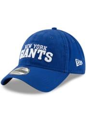 New Era New York Giants Core Classic 9TWENTY Adjustable Hat - Blue