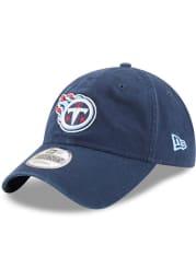 New Era Tennessee Titans Core Classic 9TWENTY Adjustable Hat - Navy Blue