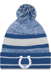 New Era Indianapolis Colts Blue Cuff Pom Mens Knit Hat