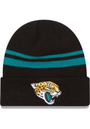 New Era Jacksonville Jaguars Black Basic Cuff Mens Knit Hat