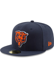 New Era Chicago Bears Mens Navy Blue Basic 59FIFTY Fitted Hat