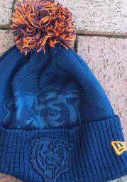New Era Chicago Bears Navy Blue Dart Cuff Pom Tech Mens Knit Hat