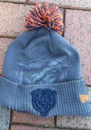 New Era Chicago Bears Grey Dart Cuff Pom Tech Mens Knit Hat