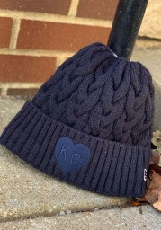 New Era Kansas City Monarchs Navy Blue Soft Sherpa Ponytail Cuff Womens Knit Hat