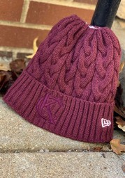 New Era Kansas City Maroon Soft Sherpa Ponytail Cuff Womens Knit Hat