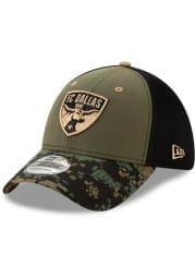 New Era FC Dallas Mens Olive Military Appreciation 39THIRTY Flex Hat