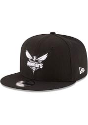 New Era Charlotte Hornets Black 9FIFTY Mens Snapback Hat