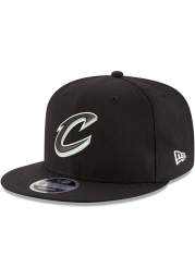 New Era Cleveland Cavaliers Black 9FIFTY Mens Snapback Hat