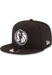 New Era Dallas Mavericks Black 9FIFTY Mens Snapback Hat