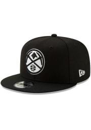 New Era Denver Nuggets Black 9FIFTY Mens Snapback Hat