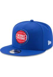 New Era Detroit Pistons Blue 9FIFTY Mens Snapback Hat