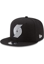 New Era Portland Trail Blazers Black 9FIFTY Mens Snapback Hat