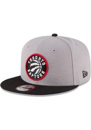 New Era Toronto Raptors Grey 9FIFTY Mens Snapback Hat